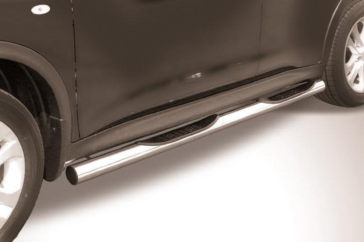 Защита порогов d76 с проступями Nissan Juke 4WD (2011)