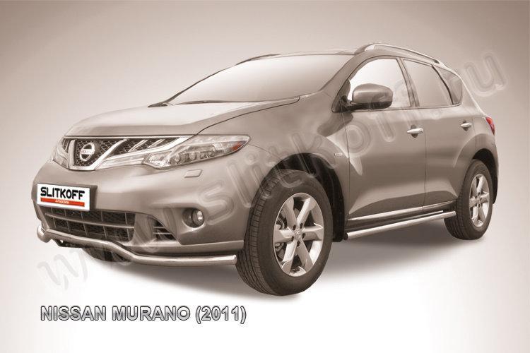"Защита переднего бампера d57 ""волна"" Nissan Murano (2011)"