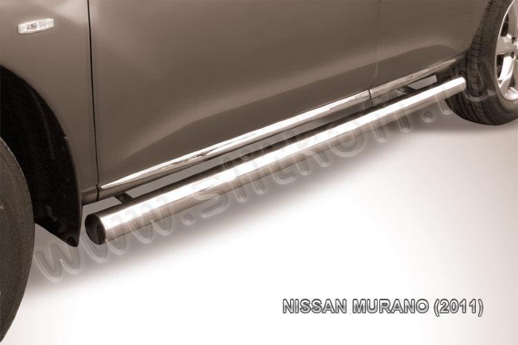 Защита порогов d76 труба Nissan Murano (2011)