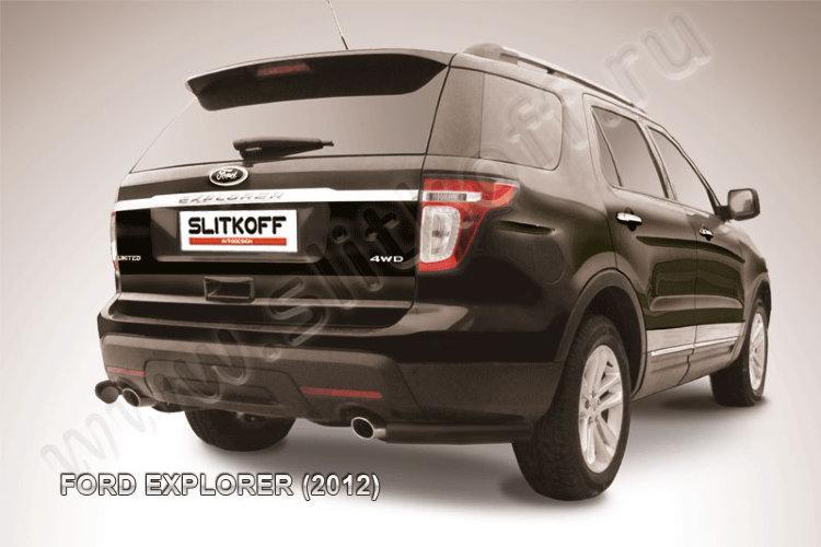 Уголки d76 черные Ford Explorer (2012)