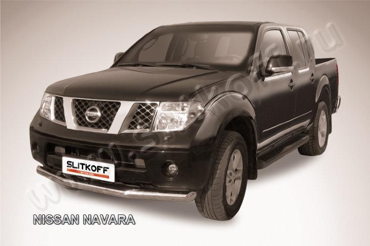 Защита переднего бампера d76 Nissan Navara