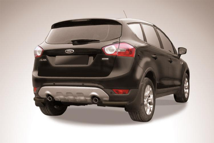 Уголки d57 черные Ford Kuga (2008)