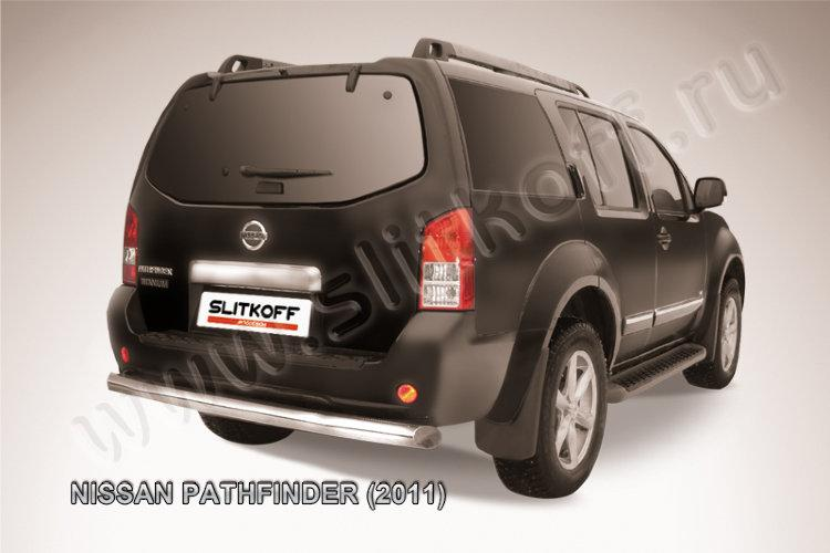Защита заднего бампера d76 Nissan Pathfinder (2011)