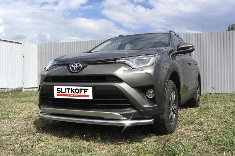 Защита переднего бампера d57 Toyota RAV4 (2015)