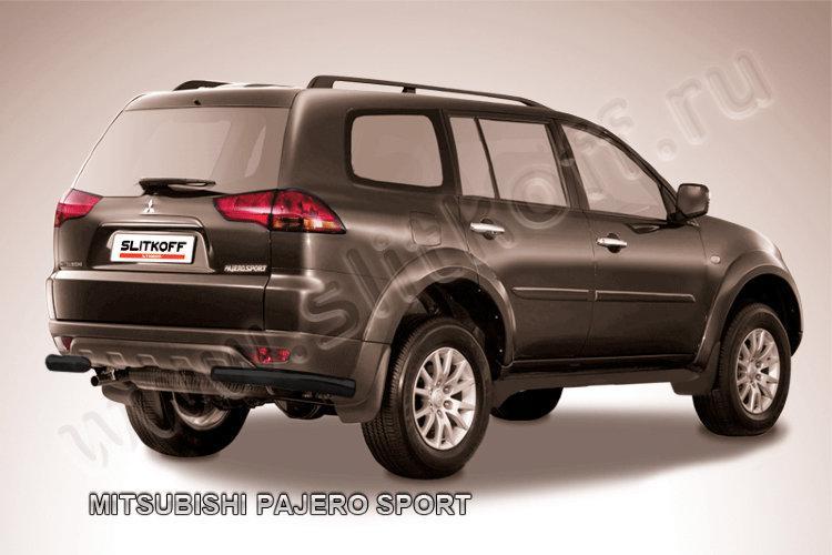 Уголки d57 черные Mitsubishi Pajero Sport (до 2010)