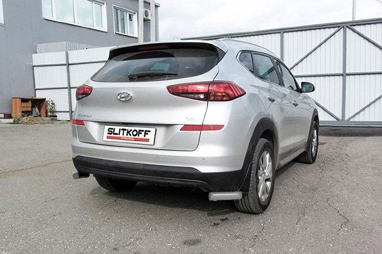 Уголки d57 серебристые Hyundai Tucson (2018) Turbo
