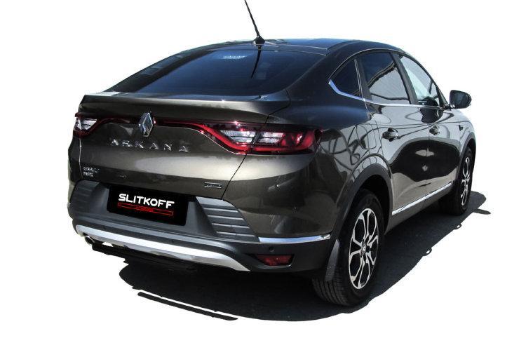 Защита заднего бампера d42 черная Renault Arkana