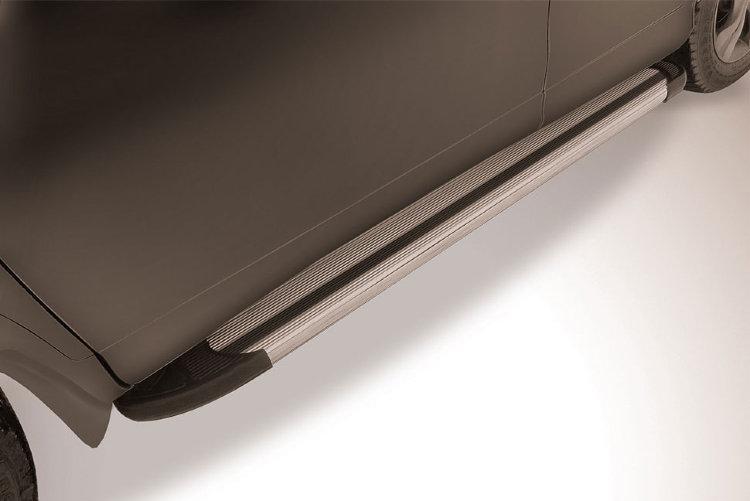 "Пороги алюминиевые ""Luxe Silver"" 1700 серебристые Honda CR-V (2017)"