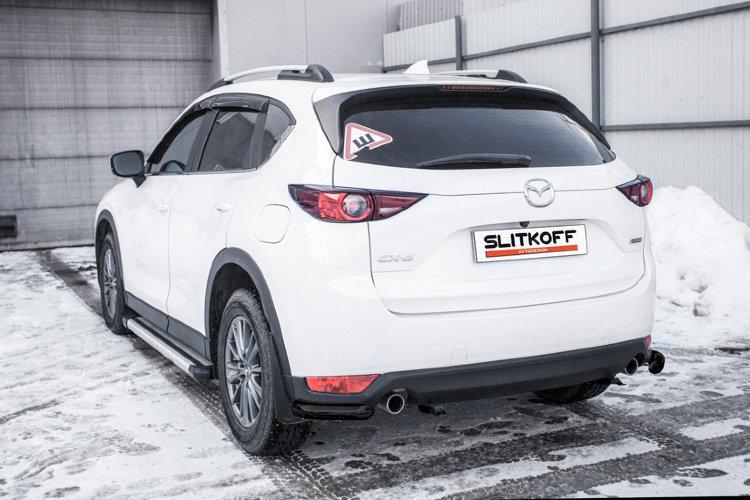 Уголки d57 черные Mazda CX-5 (2017)