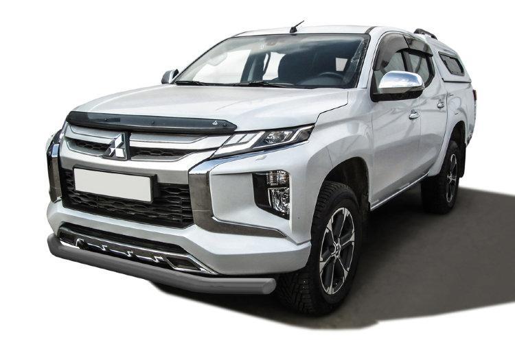 Защита переднего бампера d76 серебристая Mitsubishi L-200 (2018)