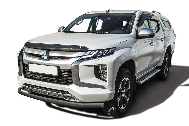 Защита переднего бампера d57 серебристая Mitsubishi L-200 (2018)