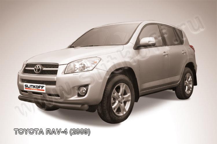 Защита переднего бампера d76 черная Toyota RAV4 (2009)
