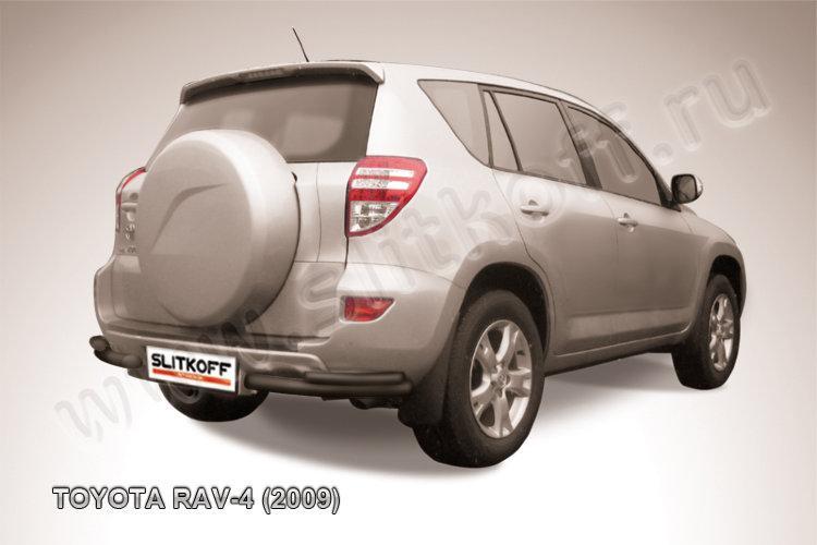 Уголки d57+d42 двойные черные Toyota RAV4 (2009)