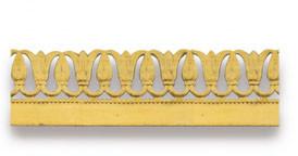 Лента накладная декоративная, 18мм х 10м, латунь натур