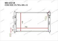 Радиатор охлождения GERAT MMC Lancer.10/ 07-