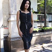 Платье cарафан летний с поясом прямого силуэта