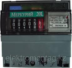 """Счетчик электроэнергии """"Меркурий"""" 201.5 1ф 5-60А 1 класс точн. 1 тариф"""
