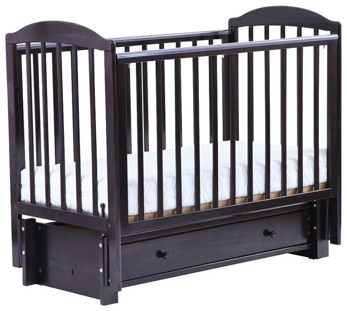 Детская кровать ЛЕЛЬ КУБАНОЧКА-5 маятниковая продольная Венге