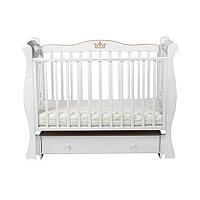 Детская кровать ЛЕЛЬ маятниковая Белый ДП 002