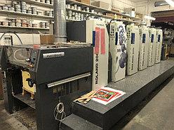 5-красочные и более б/у печатные машины Roland