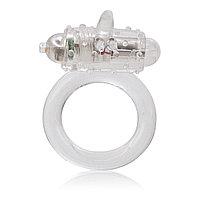 Эрекционное кольцо с вибрацией Комарик в комплекте презерватив, 25гр