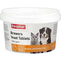 Beaphar пивные дрожжи с чесноком для кошек и собак, 250 таб., Brewers Yeast Tablets