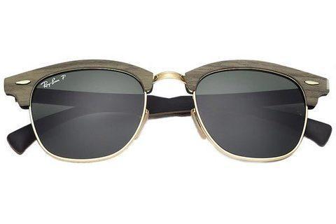 Очки солнцезащитные Clubmaster Ray-Ban (Серо-голубые линзы / C5)