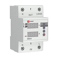 Реле напряжения и тока с дисплеем MRVA 40A EKF PROxima, фото 1