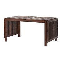Стол с откидными полами, садовый ЭПЛАРО коричневый ИКЕА, IKEA