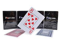 Карты покерные Poker club с синей или красной рубашкой!