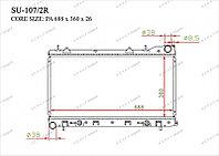 Радиатор охлождения GERAT Subaru Forester 02-05