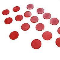 Фишки для русского лото, отдельный комплект 100 шт, красного цвета