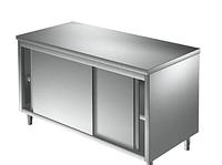 Стол разделочный шкаф, нержавеющая сталь, закрытый