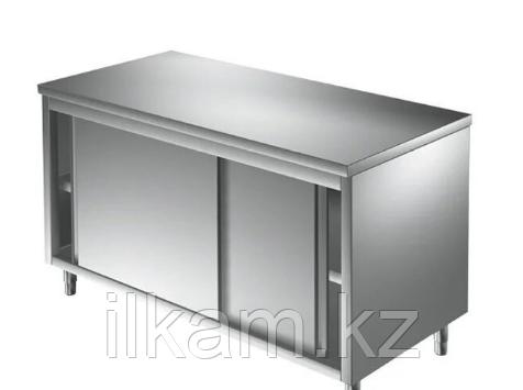 Стол разделочный шкаф, нержавеющая сталь, закрытый, фото 2
