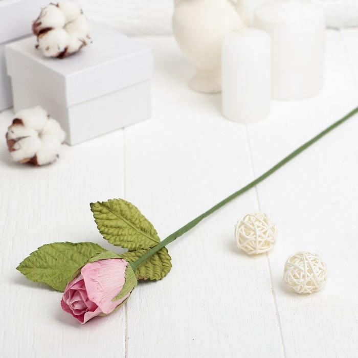 """Искусственный цветок """"Роза"""" розовая 40 см"""