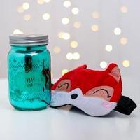 Набор свеча и маска для сна 'Я твой подарок', 8,4 х 16,1 х 8,4 см