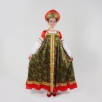 Русский костюм женский 'Рябиновые гроздья' платье, кокошник, р-р 46, рост 170