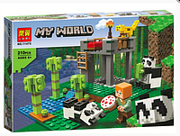 "Конструктор LARI 11475 Майнкрафт ""Питомник панд"" (Аналог Lego 21158)"