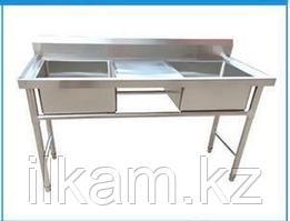 Ванна моечная , 2-х секционная со столом