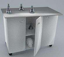 Стол-тумба химический, три дверцы,   1500х600х900
