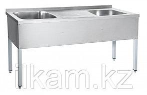 Ванна моечная, 2-х секционная со столом