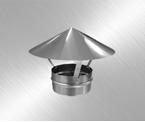 Зонт-флюгарка для круглых каналов