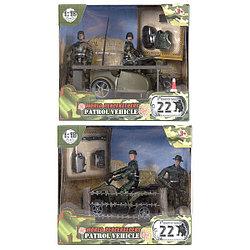 Миротворцы мира Игровой набор Мото Патруль и 2 фигурки военных, в ассортименте