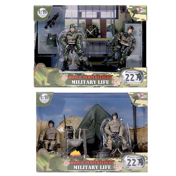 Миротворцы мира Игровой набор Армейская жизнь и 2 фигурки военных, в ассортименте