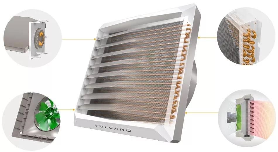 Воздушно-отопительный агрегат ( тепловентилятор ) VOLCANO VR1 AC (5-30 кВт; 2800-5300м³/ч)
