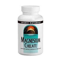 Магний хелат, Source Naturals, 100 мг, 250 таблеток