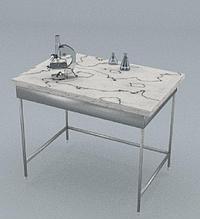 Стол химический, ц/м, 600х600х820 мм