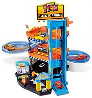 BBURAGO: Игр.набор Гараж Street Fire + 2 машинки