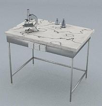 Стол химический, блок розеток, ц/м, 900х600х740 мм