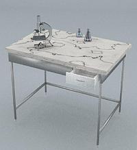 Стол химический, 1 ящик, ц/м, 900х600х740 мм